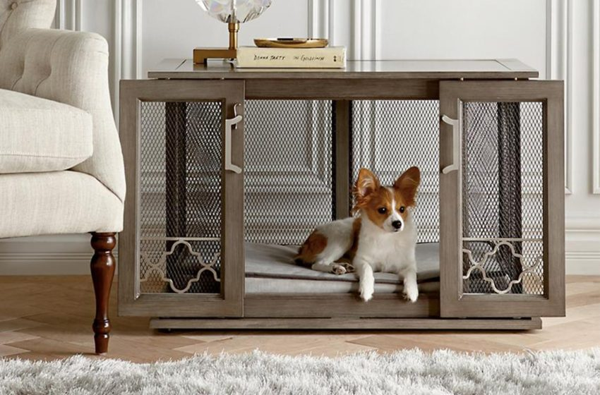 A stylish kennel for your pup