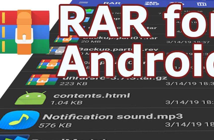 RAR APK – WinRAR for android