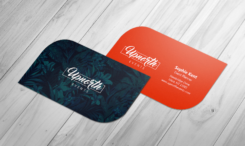 Consider using die-cut postcards to attract business