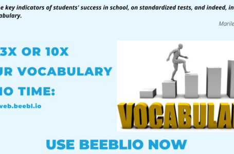 How to Improve your vocabulary using beeblio