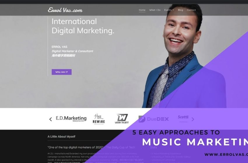 Interview with Errol Vas: 5 Marketing Tips for Up & Coming Musicians
